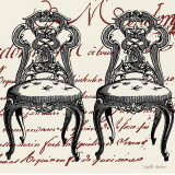 Script Chair Duo Prints by Walter Robertson
