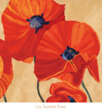 Oriental Poppy Right Prints by Lisa Feather Knee