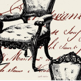 Script Tuft Chair Prints by Walter Robertson