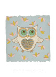 Whimsy Owl Posters by Helen Rhodes