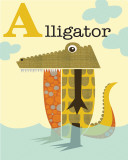 Alligator Posters by Jenn Ski