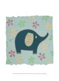 Whimsy Elephant Posters by Helen Rhodes