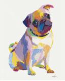 Pug Sketch Poster van Patti Mollica