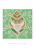 Spring Owl Poster by Helen Rhodes