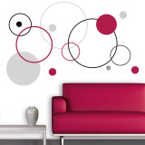 Red Bubbles Wall Decal