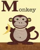Monkey Posters af Jenn Ski