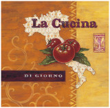 La Cucina Italia Poster by Angela Staehling