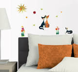 Colourful Cat&#39;s Life Wall Decal