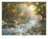 River Of Light Print by Larry Dyke