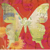 Red Pop Butterfly Prints by Walter Robertson