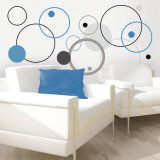 Blue Bubbles Wall Decal