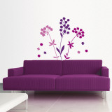 Modern Purple Blooms II Wall Decal