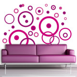 Purple Bubbles Wall Decal