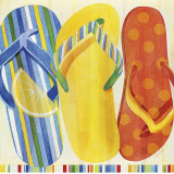 Colorful Flip Flops Poster by Mary Escobedo