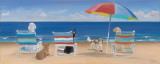 Beach Chair Tails Poster by Carole Saxe