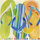 Holiday Flip Flops Posters by Mary Escobedo