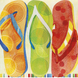 Beach Flip Flops Prints by Mary Escobedo