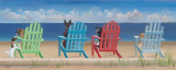 Rainbow Chair Tails Posters by Carole Saxe
