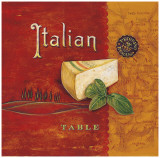 Italian Table Print by Angela Staehling