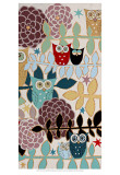 Starry Owls Print by Helen Rhodes
