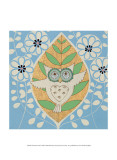 Summer Owl Art by Helen Rhodes