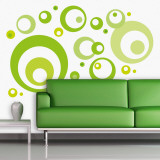 Lime Green Bubbles Autocollant mural