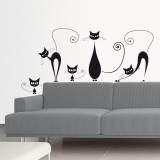 Chats noirs Autocollant mural