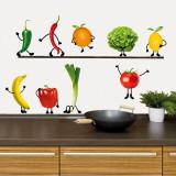 Verrücktes Gemüse Wandtattoo