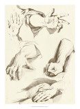 Study of Hands Affiches