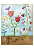 Whimsical Flower Garden I Art by Megan Meagher