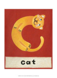 C is for Cat Poster by Chariklia Zarris