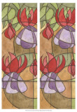 2-Up Stain Glass Floral III Print by Jason Higby