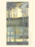 Small Nouveau Landscape II Poster af Jennifer Goldberger