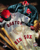 Boston Red Sox - Boston Red Sox Cooperstown Collage Photo