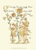 Shakespeare's Garden VIII (Lily) Poster von Walter Crane