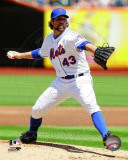 New York Mets - R.A. Dickey 2011 Action Fotografía