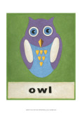O is for Owl Poster van Chariklia Zarris