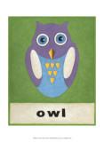 O is for Owl Poster von Chariklia Zarris