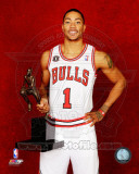 Chicago Bulls - Derrick Rose poses with the 2010-11 NBA MVP Trophy Photo