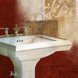 Red Bathroom & Ornaments II Poster af Patricia Quintero-Pinto