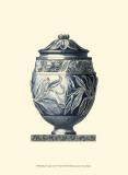 Blue Porcelain Urn IV Posters