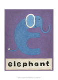E is for Elephant Láminas por Chariklia Zarris