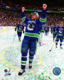 Vancouver Canucks - Henrik Sedin - Celebrating Game 5 Western Conference 2011 Finals Photo