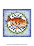 Seafood Sign II Print by Sydney Wright