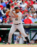 Houston Astros - Carlos Lee 2011 Action Photo