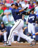 Milwaukee Brewers - Carlos Gomez 2011 Action Photo