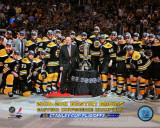 The Boston Bruins Celebrate Winning Game Seven of the Eastern Conference Finals with Overlay Photo