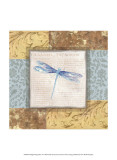 Collaged Dragonflies V Prints by Linda Grayson
