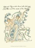 Shakespeare's Garden II (Hyacinth) Poster von Walter Crane