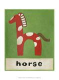 H is for Pferd Poster von Chariklia Zarris